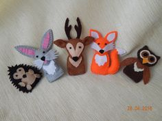 Forest animal finger puppets. Felt finger puppets. by BBHandcrafts