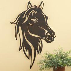 Impressive Metal Western Horse Head Wall Art
