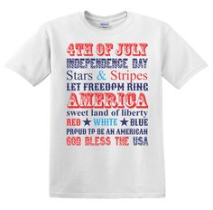 4th of July tshirt or onesie Stars and Stripes by spursandlace