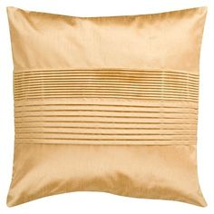 Solid Pleated Toss Pillow - Gold (18