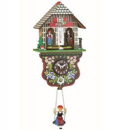 Miniatura de Relógio Cuco chale eletrônico casinha do tempo