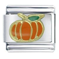 Orange Pumpkin Italian Charm
