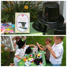 Alice in Wonderland Party Ideas games mad hatter hat craft