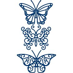 Tattered Lace Trio of Butterflies 3 Pack