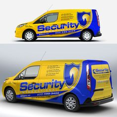 2239f5f56a security international van wrap Truck Lettering