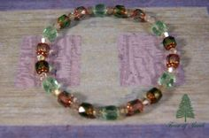 Soft Green Stretch Bracelet by ForestofJewels on Etsy, $10.00