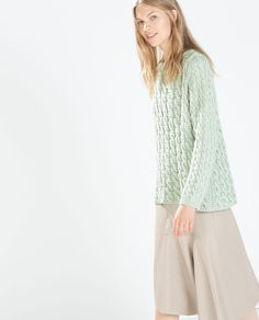 Image 3 of CABLE STITCH SWEATER from Zara  2595