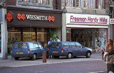 WHSmith and Freeman Hardy Willis Shops in Croydon North End Croydon Surrey England in 1989