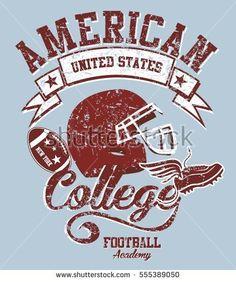 American College Football graphic design vector art