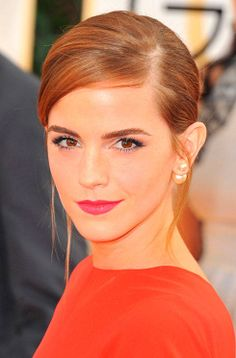 double pearl earrings on Emma Watson