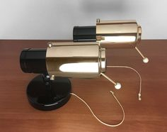 2 Mid Century LITA Wall Mounted Spotlights designed in 50s by Jacques Biny