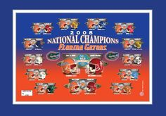 The Florida Gators won their last national championship in 2008. They had previously won championships in 2006 and 1996, and in 1984 they finished number 3 in the in the AP poll, but were recognized as national champions by The Sporting News, The New York Times, Billingsley, DeVold, Dunkel, FACT, Matthews, and Jeff Sagarin rankings. I think its time to overhaul the BCS, and put in place a playoff system. College Sport, College Football, Sports Logos, National Championship, Florida Gators, Number 3, Special Events, York, Times