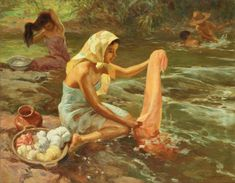 """Fernando Amorsolo y Cueto, Filipino painter, was an important influence on contemporary Filipino art and artists, even beyond the so-called """"Amorsolo school"""". Subjects: Philippine Genre, historical and society Portraits. Filipino Art, Filipino Culture, Manila, Philippine Art, Most Popular Image, Oil On Canvas, Canvas Art, Philippines, Scene"""