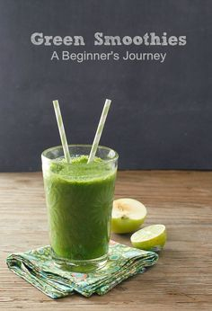 Green Smoothies- A Beginner's Journey {Bright Morning Apple Lime Leafy Greens Smoothie}