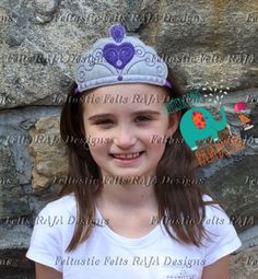 Sophia First Princess felt headband, tiara, crown, embroidered, dress up, accessories, hair clip, feltie, childs headband, photo prop - pinned by pin4etsy.com