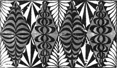 Another example of various ngatu designs used in decorative Tongan art