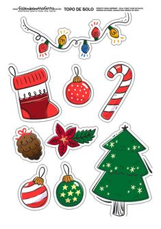 In this DIY tutorial, we will show you how to make Christmas decorations for your home. The video consists of 23 Christmas craft ideas. Christmas Rock, Large Christmas Baubles, Merry Christmas Card, Christmas Stickers, Christmas Printables, Christmas Crafts, Christmas Cake Designs, Christmas Decorations To Make, Festa Toy Store