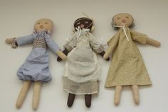 Rag doll Cloth doll handmade french antique look by Manuatelier, $98.00