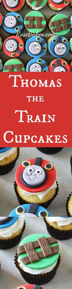 Thomas the Train Cupcakes   RoseBakes.com
