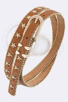 Star Studs Skinny Belt