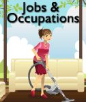 Jobs & Occupations colouring pages plus more arts & crafts