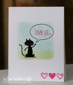 Stampin' Anne: Kitty Love for Paper Players #179 Stamps are Cool Kid, Just Sayin' & Language of Love
