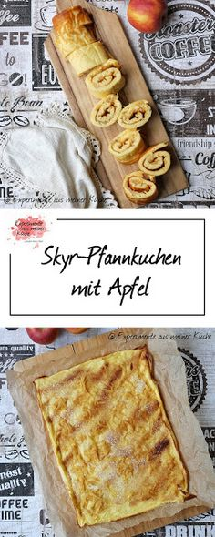 Skyr pancakes with apple - Naschwerk - Desserts und mehr - Food&Drink Breakfast Low Carb, Fast Food Breakfast, Yogurt Breakfast, Breakfast Cookies, Breakfast Bake, Breakfast Bowls, Healthy Breakfast Casserole, French Toast Bake, How To Cook Eggs