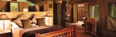 The Hide Accommodation -- Tented Camps -- Hwange National Park -- Luxury Safari Lodge