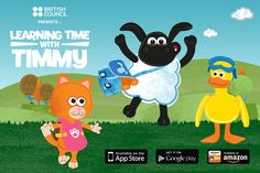 Baa-rilliant news - our kids app Learning Time with Timmy is now available on phones!   Play exciting games and listen to the narrator to learn numbers, colours, shapes and food in English with Timmy and his friends. As your child plays more games, they can collect stickers to decorate the sticker book and fun short videos of Timmy and his friends.   | LearnEnglish Kids | British Council