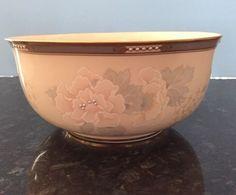 """Lenox MCKINLEY Floral Serving Centerpiece Bowl 8""""D x 3 3/4""""H"""