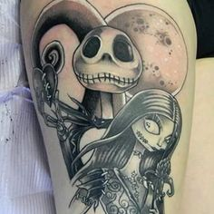 Jack and Sally have never looked better. | 27 Stunning Reasons To Get A Tim Burton Tattoo