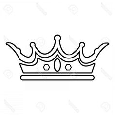 Crown Drawing Outline and Princess Crown Vector Drawing Crown Outline, Crown Drawing, Crown Images, Princesses, Flower, Tattoos, Drawings, Food, Tatuajes