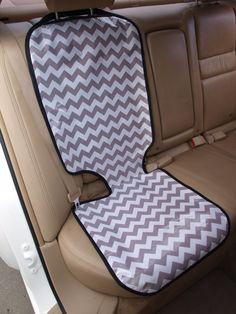Chevron car seat protector 18x47 inches. $35.00, via Etsy.