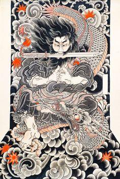 Osen - enigmatic Irezumi designer of Yokohama. - Osen – enigmatic Irezumi designer of Yokohama. Japanese Dragon Tattoos, Japanese Tattoo Art, Japanese Tattoo Designs, Japanese Sleeve Tattoos, Japanese Drawings, Japanese Artwork, Japanese Painting, Japanese Prints, Irezumi Tattoos