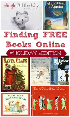 25 Free Christmas Books Online More than 25 FREE online Christmas, Hanukkah and winter stories to read aloud to preschoolers, kids Free Kids Books, Best Children Books, Free Books Online, Childrens Books, Online Stories, Kid Books, Story Books, Christmas Stories For Kids, A Christmas Story
