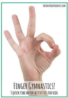 Fine Motor Coordination Activity of the Week: Finger Gymnastics-pinned by @PediaStaff – Please Visit  ht.ly/63sNt for all our pediatric therapy pins