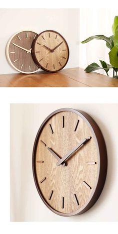 Creative grande horloge murale en bois de bambou Simple Design moderne montre salon horloges en bois silencieux pas de verre décor à la maison 14 pouces - AliExpress Kitchen Wall Clocks, Clock Decor, Wooden Clock, Design Moderne, Room Decor, Plastic, Simple, Creative, Handmade