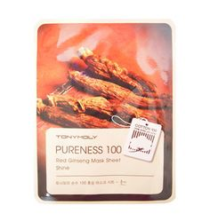 Tony Moly: Pureness 100 Red Ginseng Mask Sheet - Shine | Peach and Lily