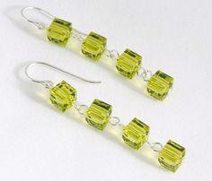 Crystal Cube Earrings by Lisa Wicker Designs LLC