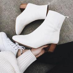 Trend: White Boots, Botinha Branca!