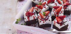 Erdbeer- Stracciatella-Kuchen