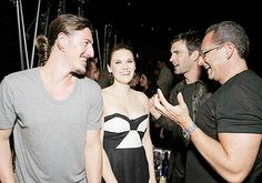 """Eric Balfour, Emily Rose, Lucas Bryant and CEO Entertainment One Television John Morayniss attends the Entertainment One """"Haven"""" Party at Comic Con on Thursday July 17, 2013 in San Diego"""