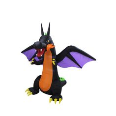 Halloween Fire Dragon Inflatable with Wings