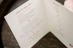"""Innenseite Flying-Buffet-Karte, mit Herz, in Pink Grün und dem Motto """"Gemeinsame Reise durchs Leben"""""""