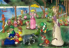 Georges Seurat - Sunday Afternoon at Nintendo. Art Spoof!