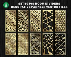 24 natural ornaments for decorative partitions panel screen Room Screen, Room Divider Screen, Partition Screen, Room Dividers, Wood Panel Walls, Panel Wall Art, Wood Wall, Geometric Patterns, Vector File