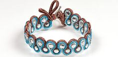 Preciosa Braided Bracelet Project - Soutache meanders