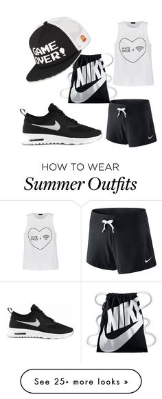 """""""my summer outfit"""" by chantalherrmann on Polyvore featuring NIKE, Vans and Ally Fashion"""