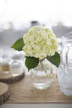 Simple floral centerpieces