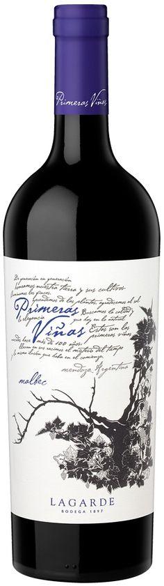 """""""Primer Viñas"""" Malbec 2011 - Bodega Lagarde, Luján de Cuyo, Mendoza----------------------------------Terroir: Mayor Drummond----------Crianza: 12 a 14 meses en barricas de roble francés"""